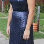 Sequin mismatched bridesmaid dress