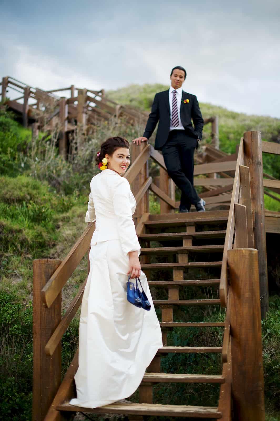 beach wedding winter wedding tuxedo