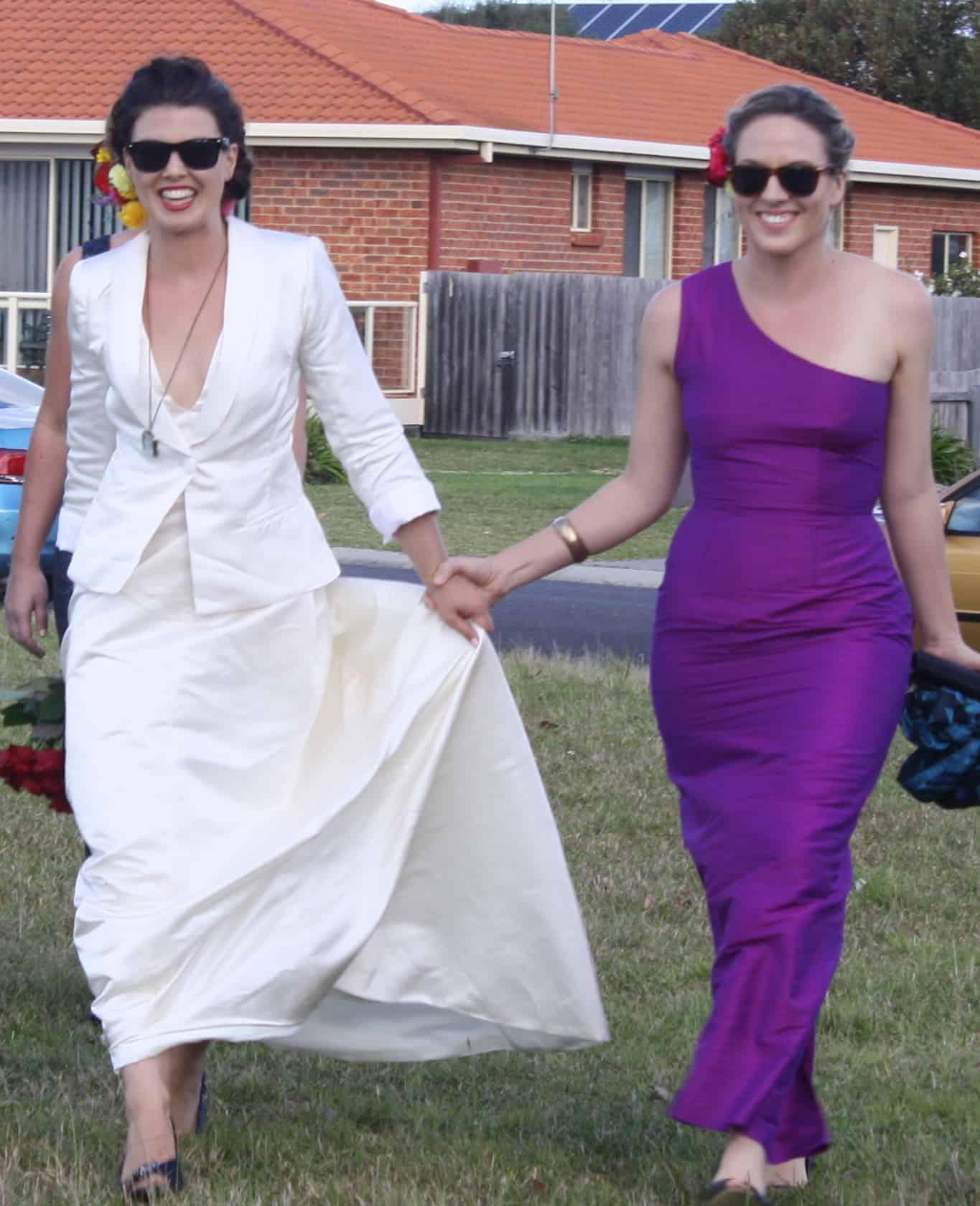 White silk blazer | Kathleen Brewster