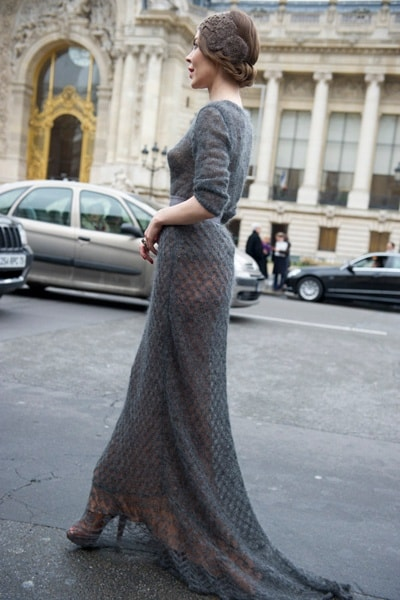 Knitted dress, perfect for a winter wedding