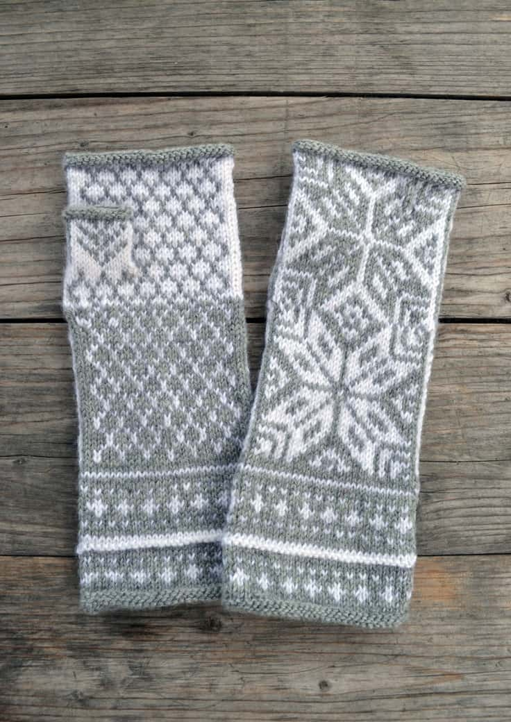 fair isle knitted gloves, perfect for a winter wedding