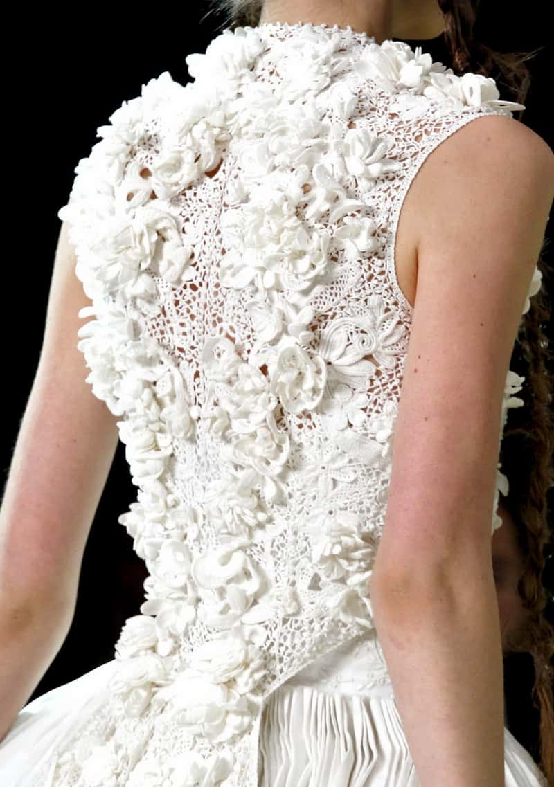 Mcqueen crochet wedding dress