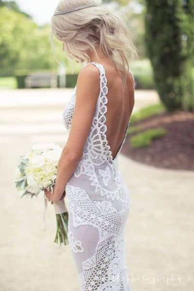 Batterburg lace wedding dress
