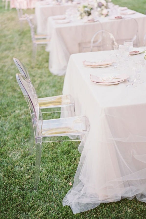 tulle table cloth