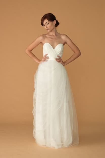 tulle sweetheart gown
