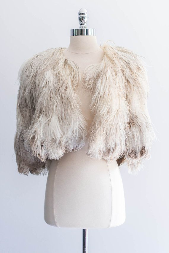 Vintage feather cape.