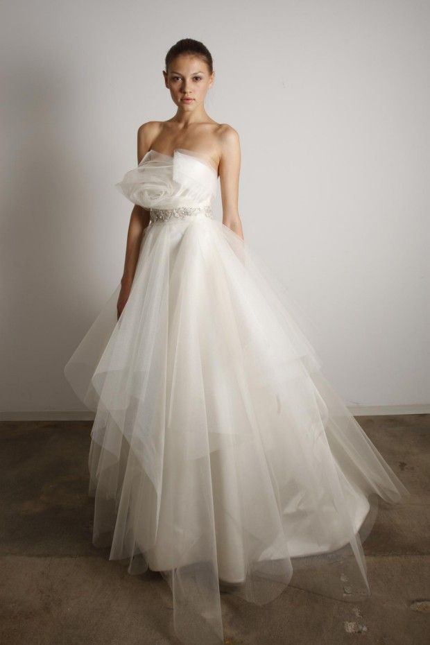 Marchesa tulle gown