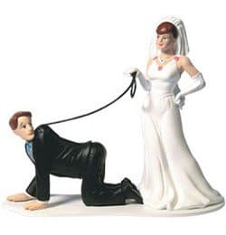 Humorous-Wedding-Cake-Topper-Groom-on-Leash