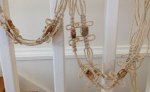 Macrame work in progress