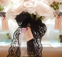 Lace ribbon bouquet