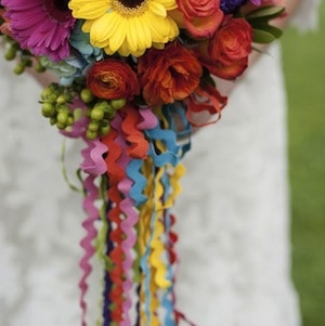 ric rac around bouquet