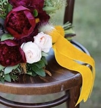 yellow ribbon bouquet